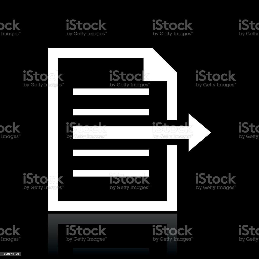 Document icon on a black background. - WhiteSeries vector art illustration