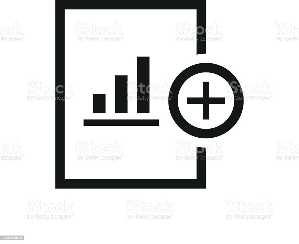 Document icon on a white background. vector art illustration