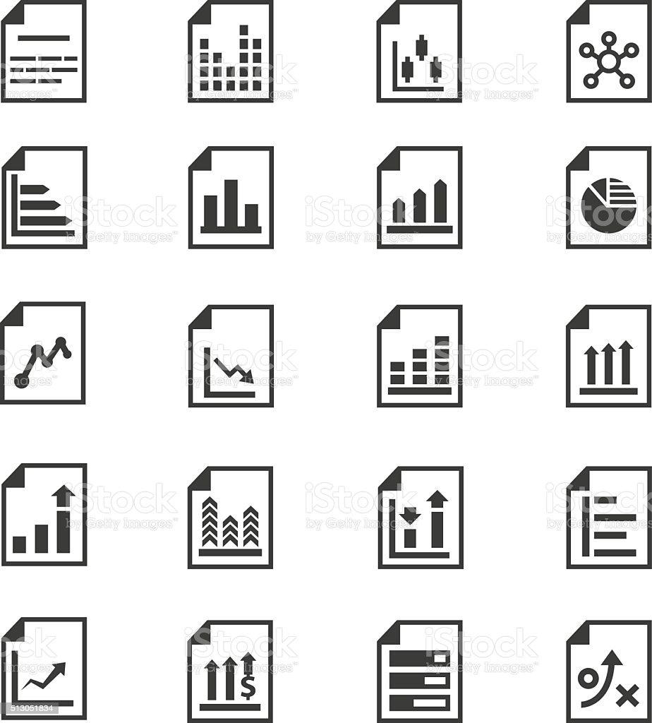 Document icon set vector art illustration