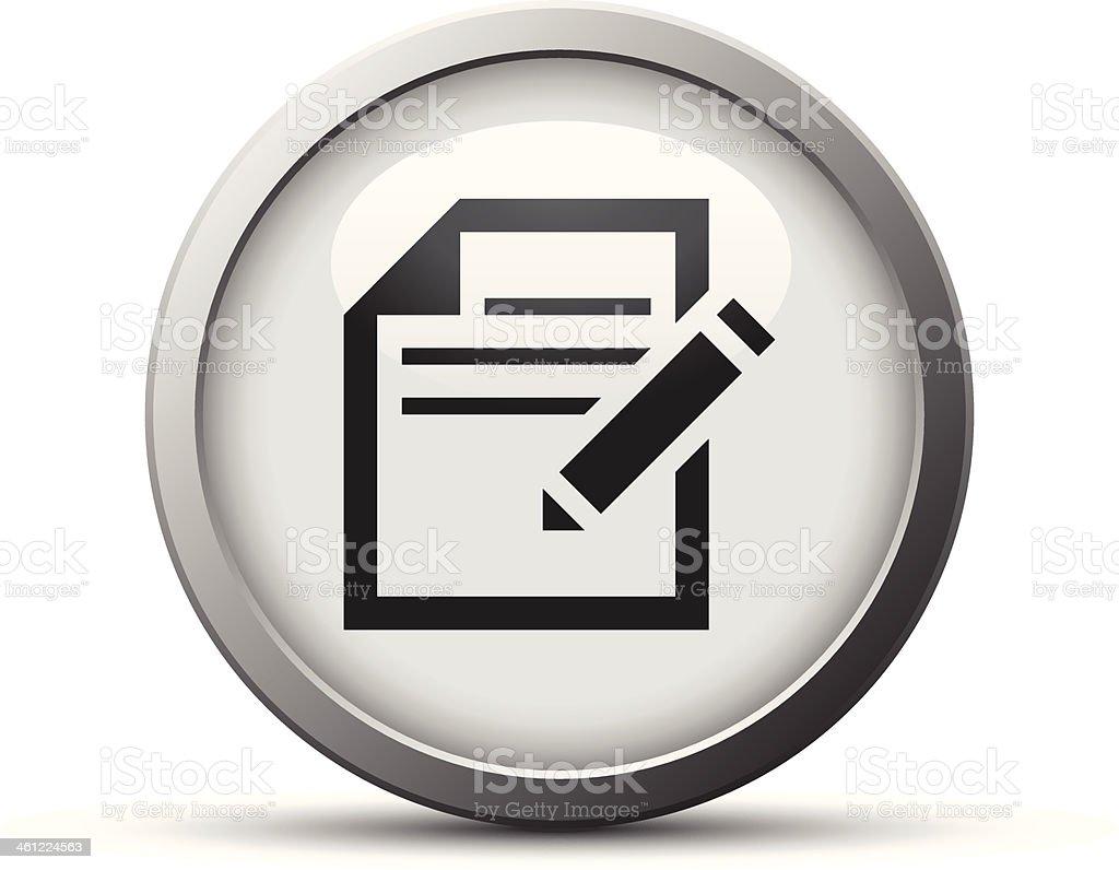 Document icon royalty-free stock vector art