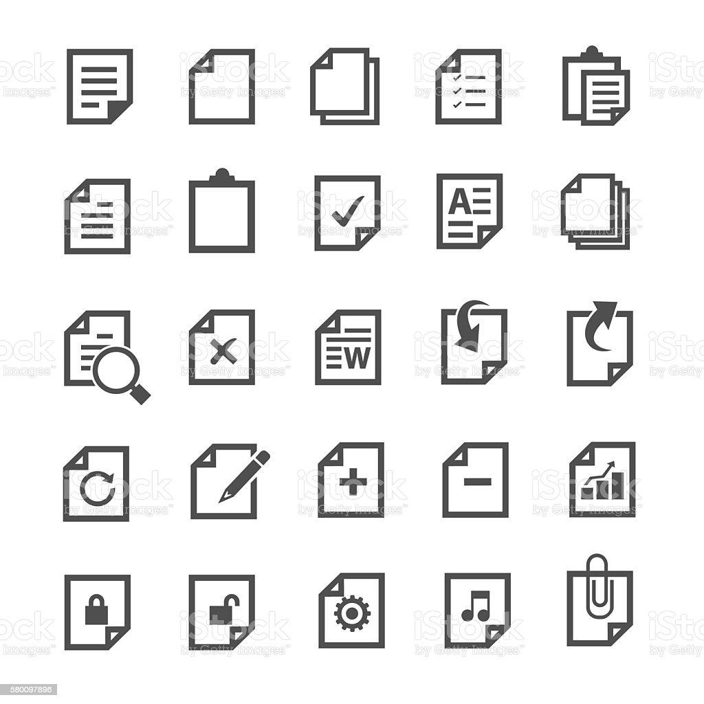 Document icon vector art illustration