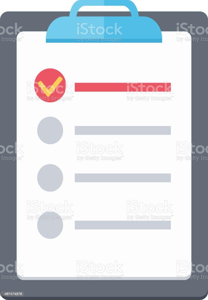 Document. List. vector art illustration