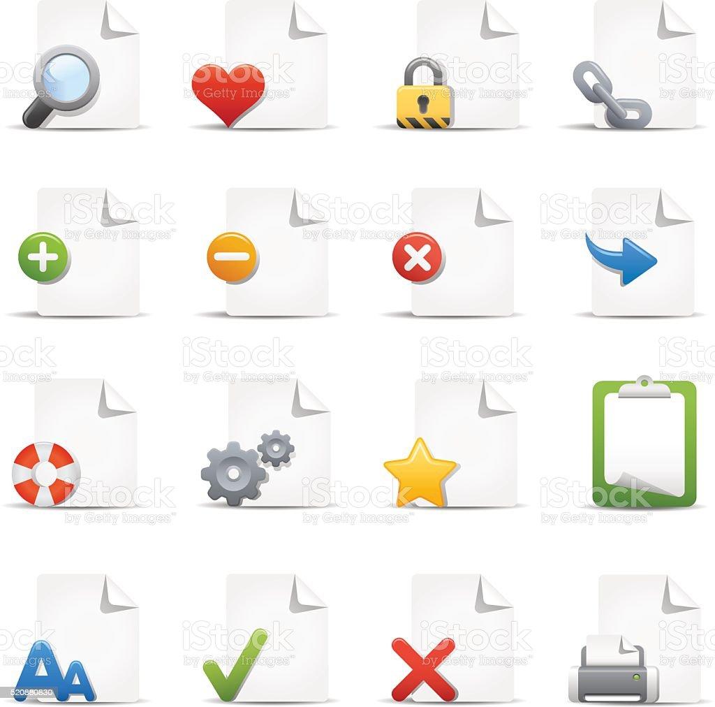 Document Management Icons vector art illustration