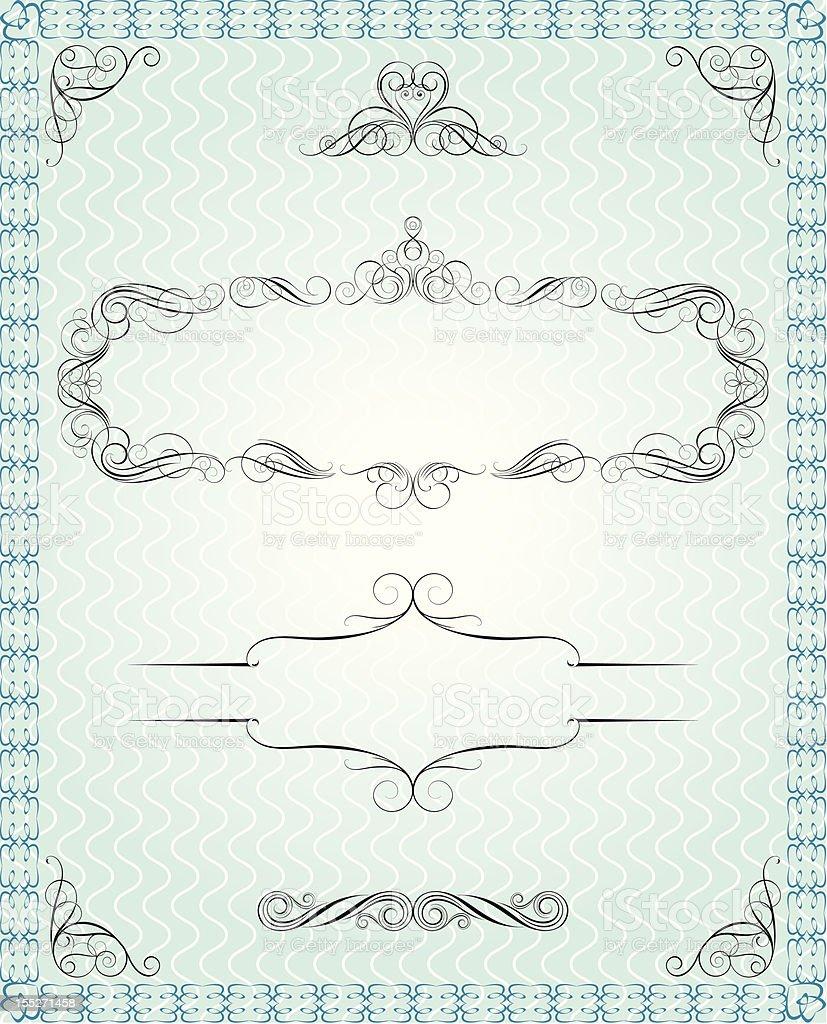 Document retro background royalty-free stock vector art