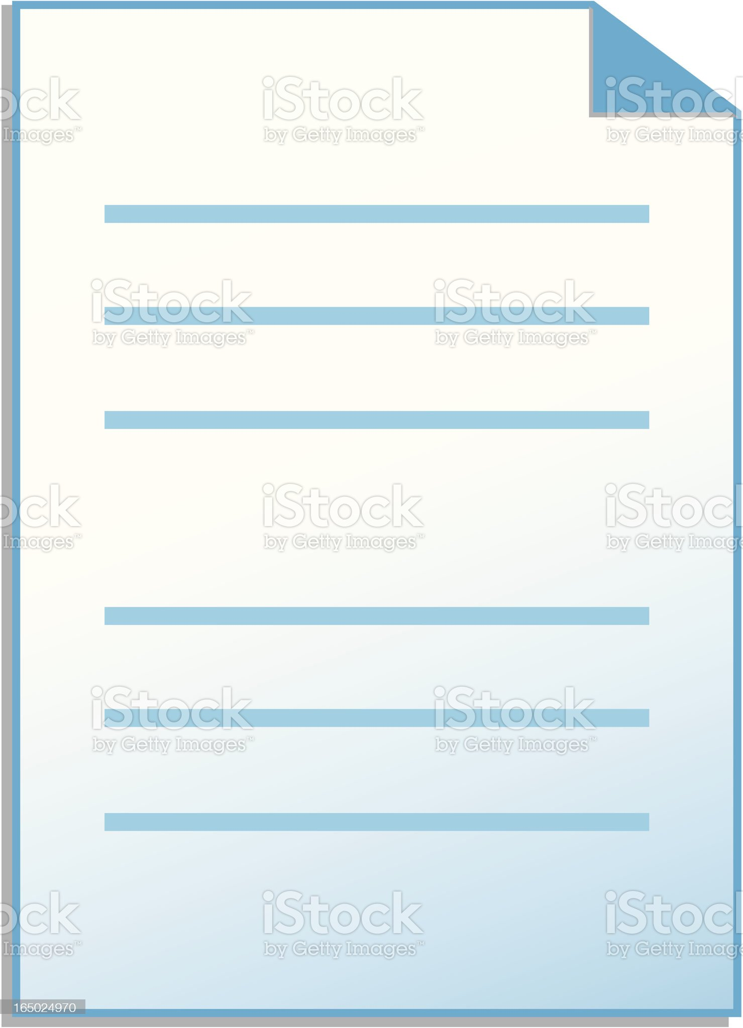 document royalty-free stock vector art