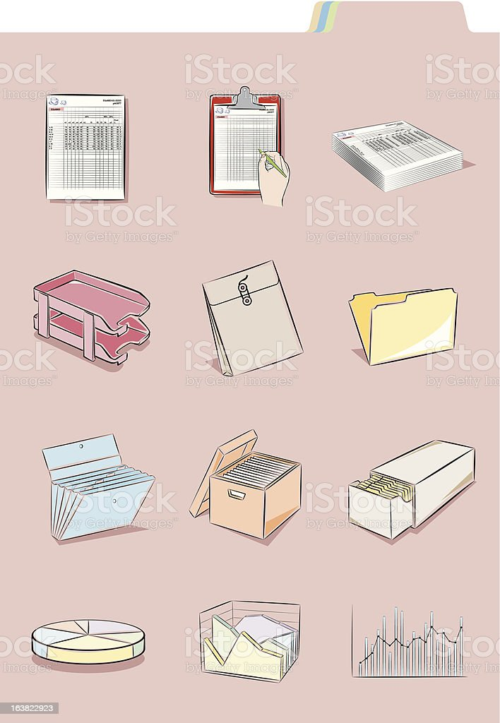 Documents & folder royalty-free stock vector art