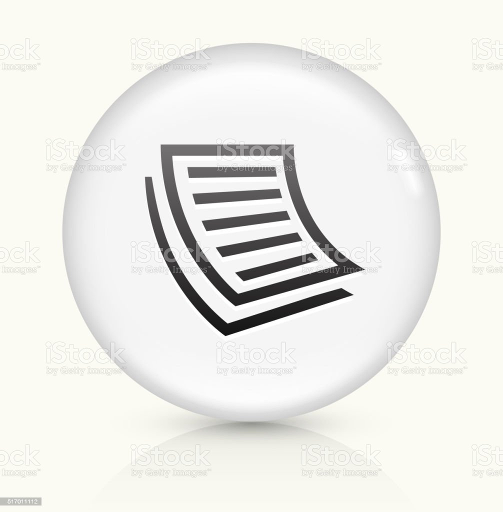 Documents icon on white round vector button vector art illustration