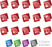 Documents Icons Set 2 // Stickers Series