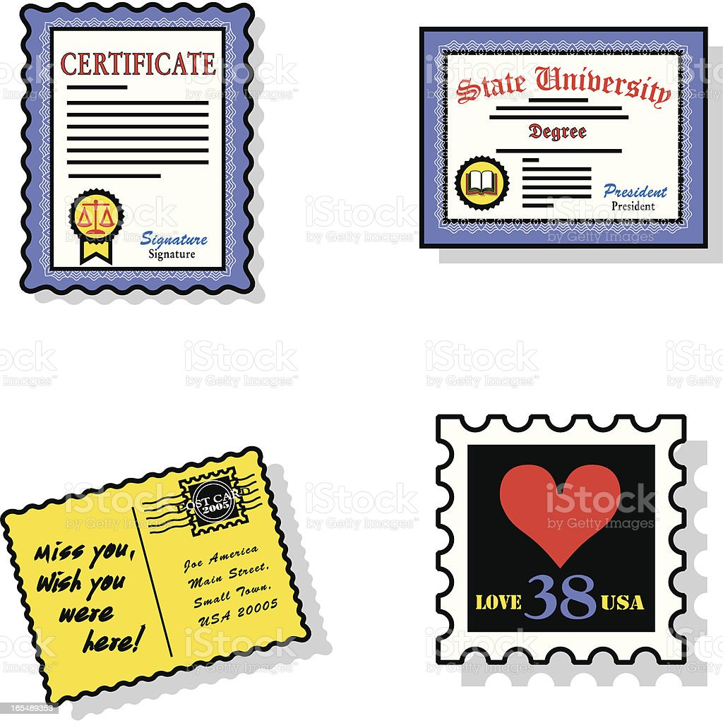 documents icons royalty-free stock vector art