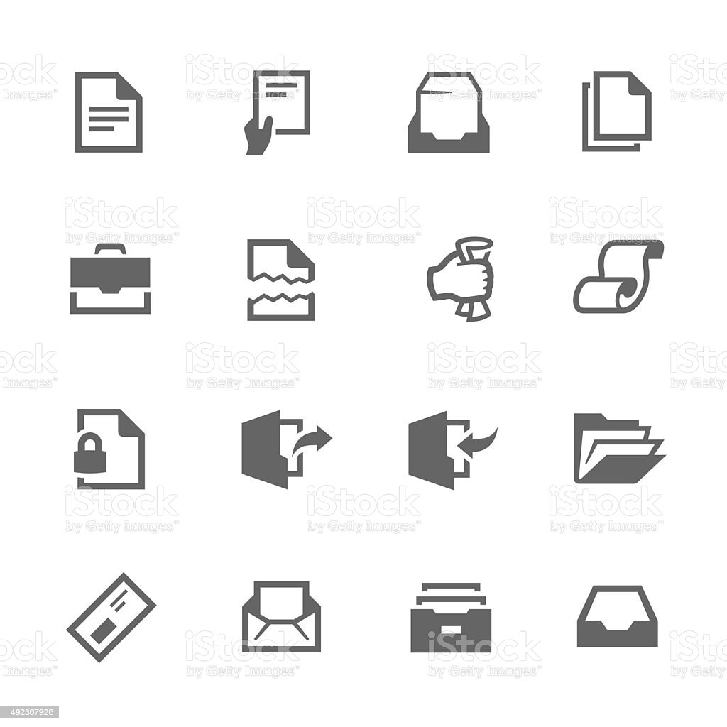 Documents Icons vector art illustration