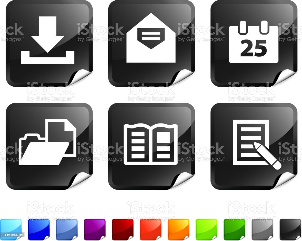 documents royalty free vector icon set royalty-free stock vector art