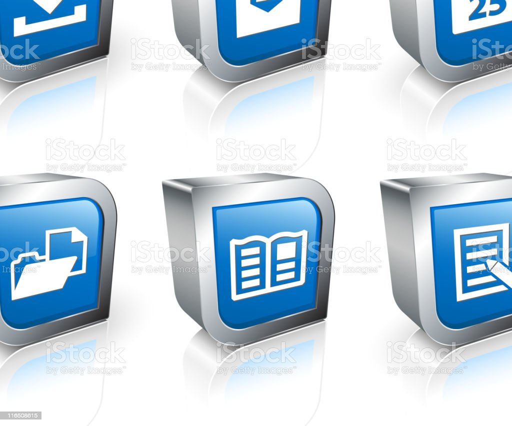 documents square royalty free vector icon set royalty-free stock vector art