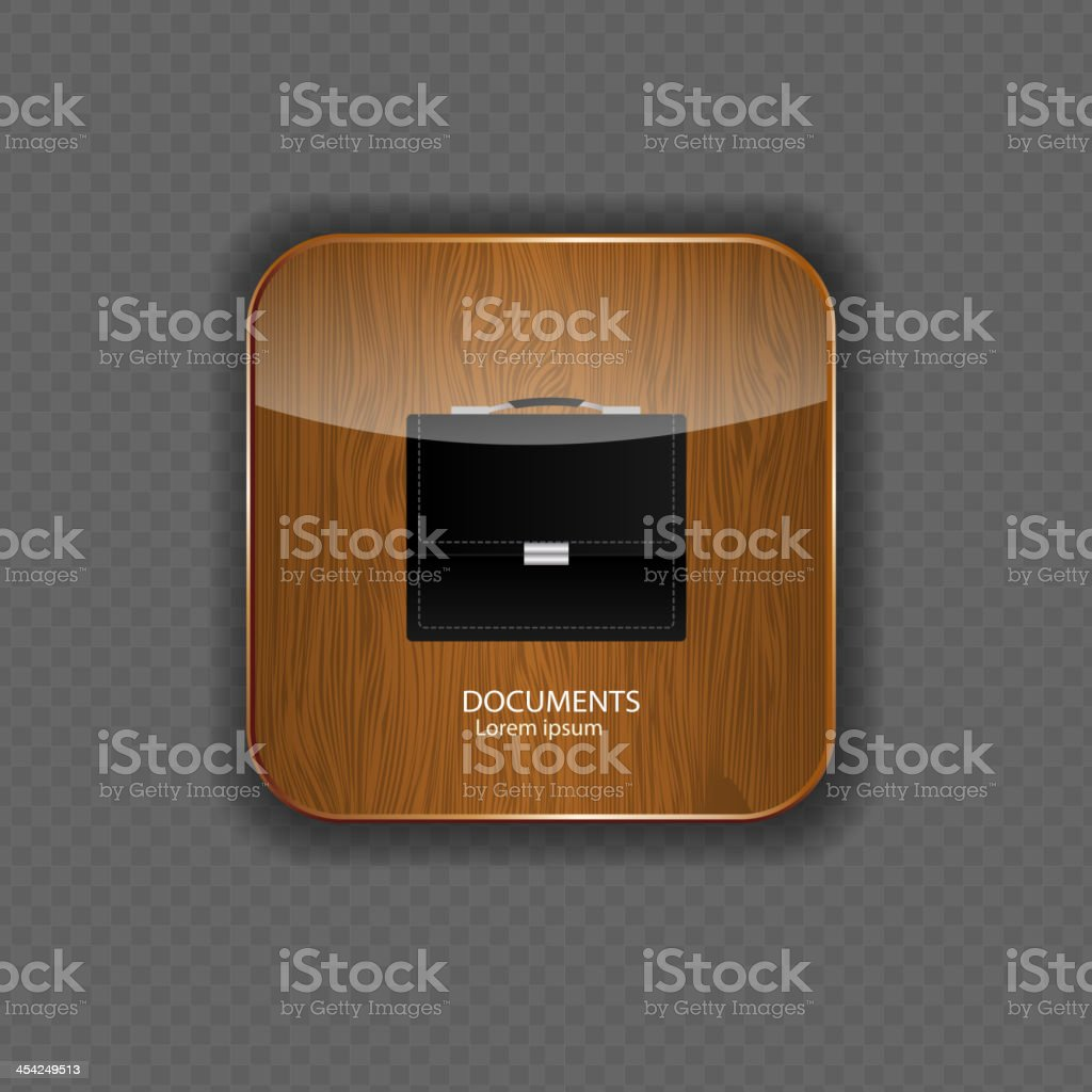 Documents wood application icons vector illustration royalty-free stock vector art
