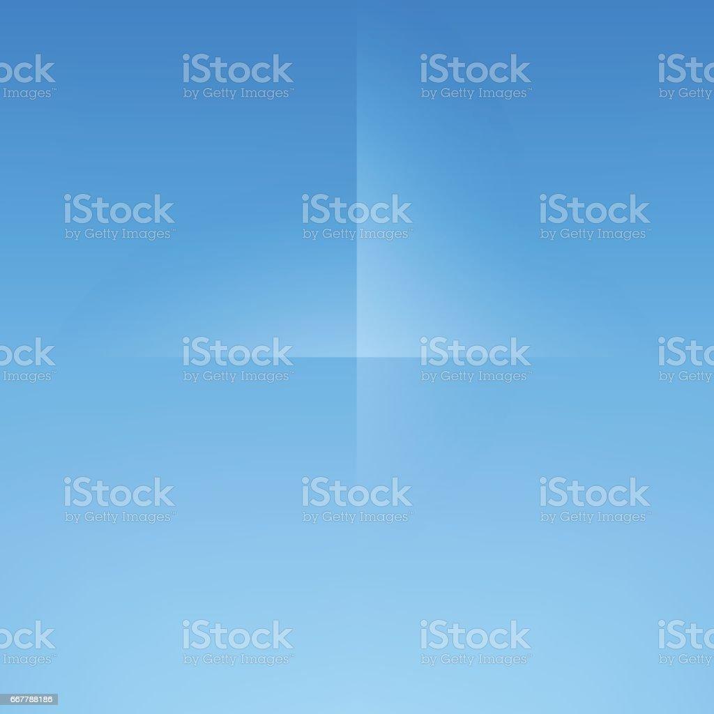 Dodger Blue Minimal Fold Line Background vector art illustration