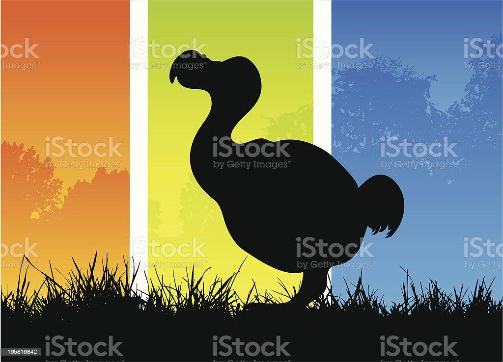 Dodo silhouette royalty-free stock vector art
