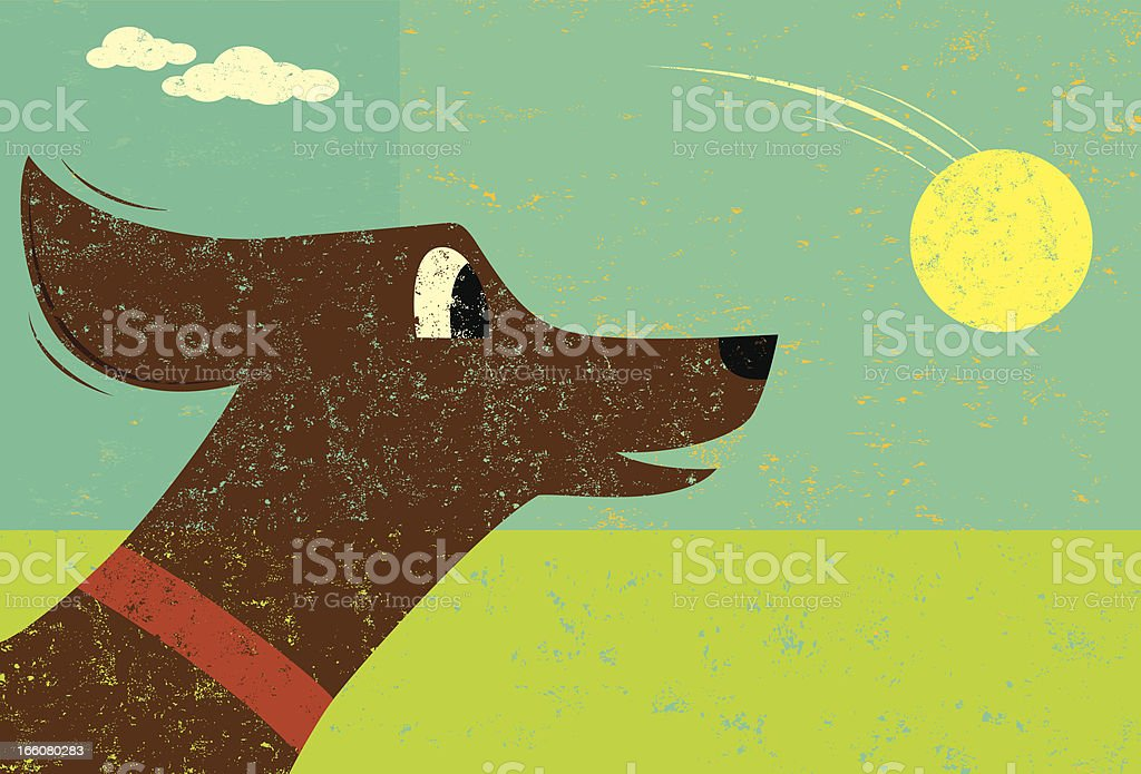 Dog and Ball royalty-free stock vector art