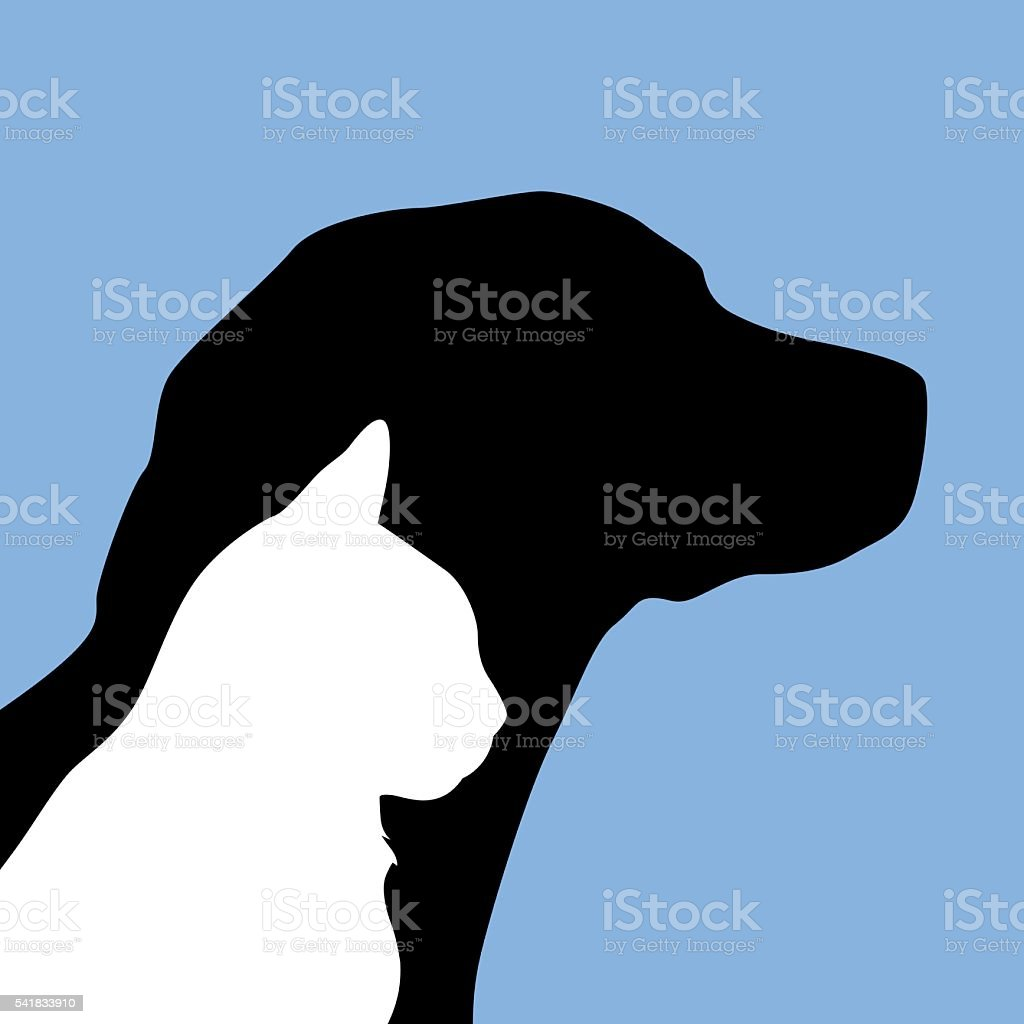 Dog And Cat Icon vector art illustration