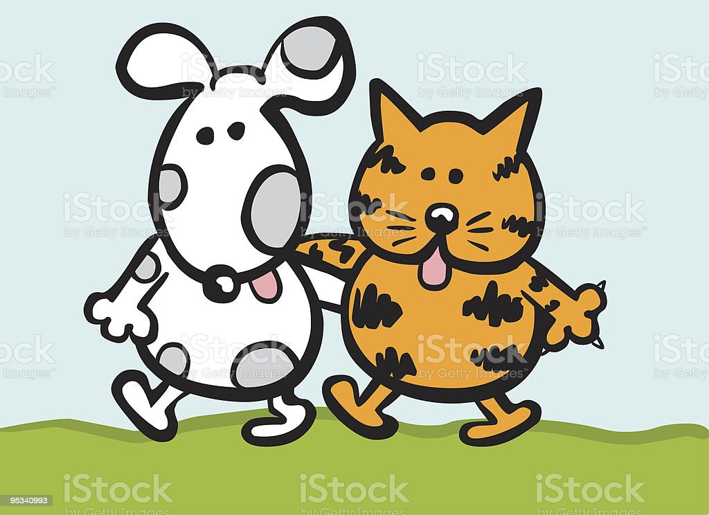 Dog and Cat royalty-free stock vector art