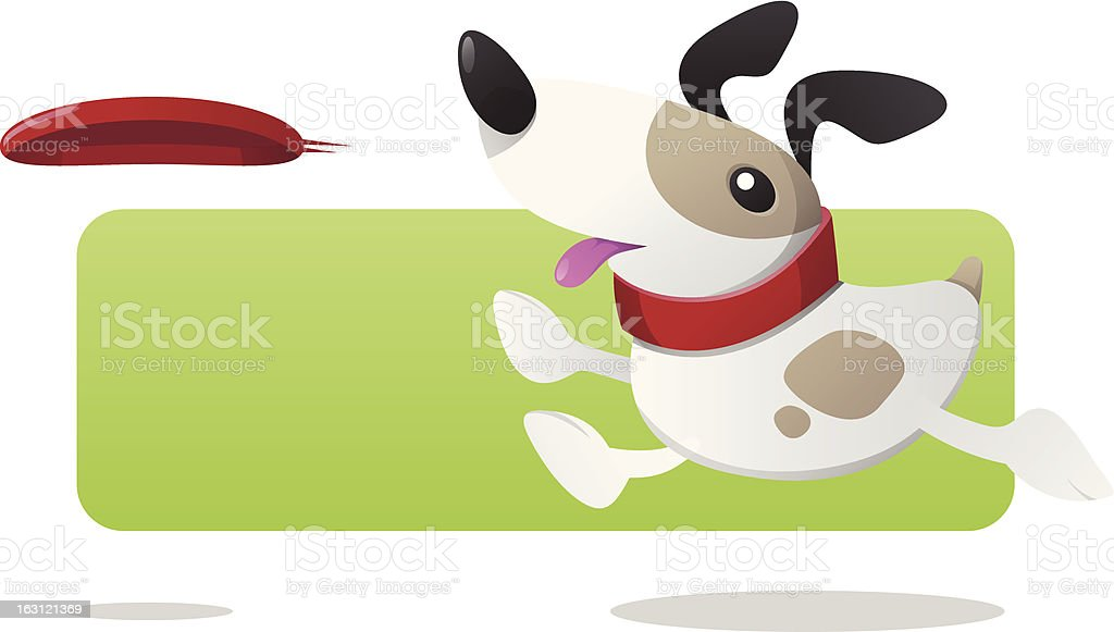 Dog and Frisbee royalty-free stock vector art