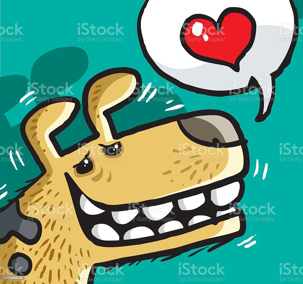 dog and love royalty-free stock vector art
