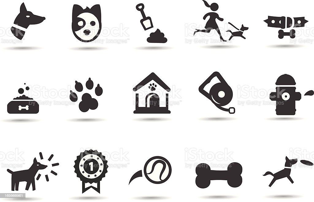 Dog and Pet  Icons royalty-free stock vector art