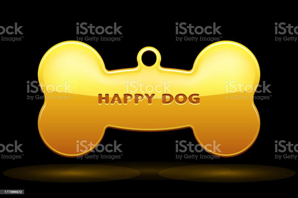 Dog Bone Collar royalty-free stock vector art