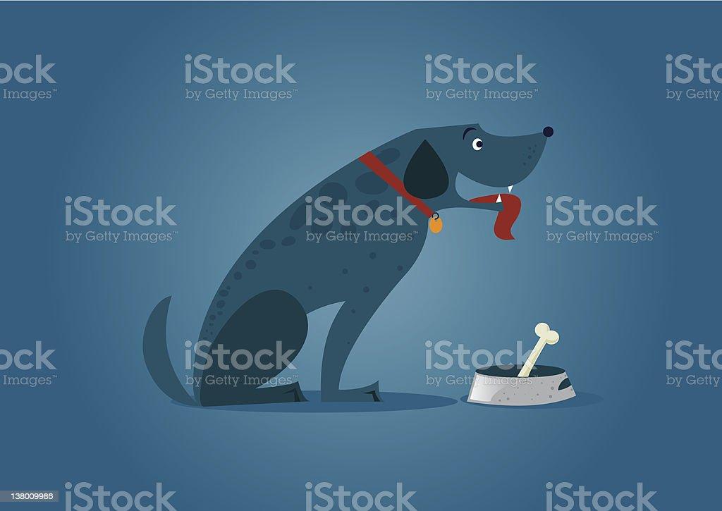 Dog bone food vector art illustration