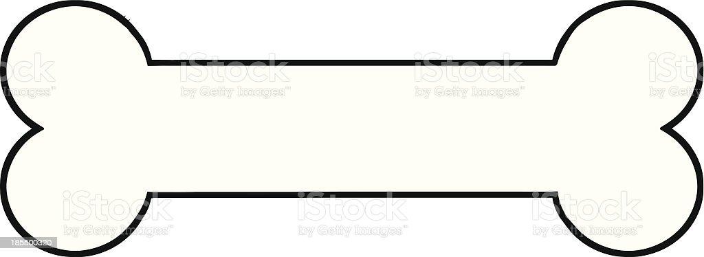 Hueso Para Perro Illustracion Libre de Derechos 185500320 | iStock
