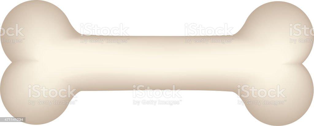 Dog bone vector art illustration