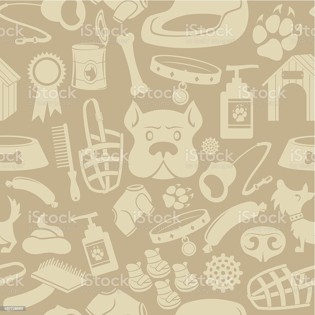 Dog care Seamless background royalty-free stock vector art