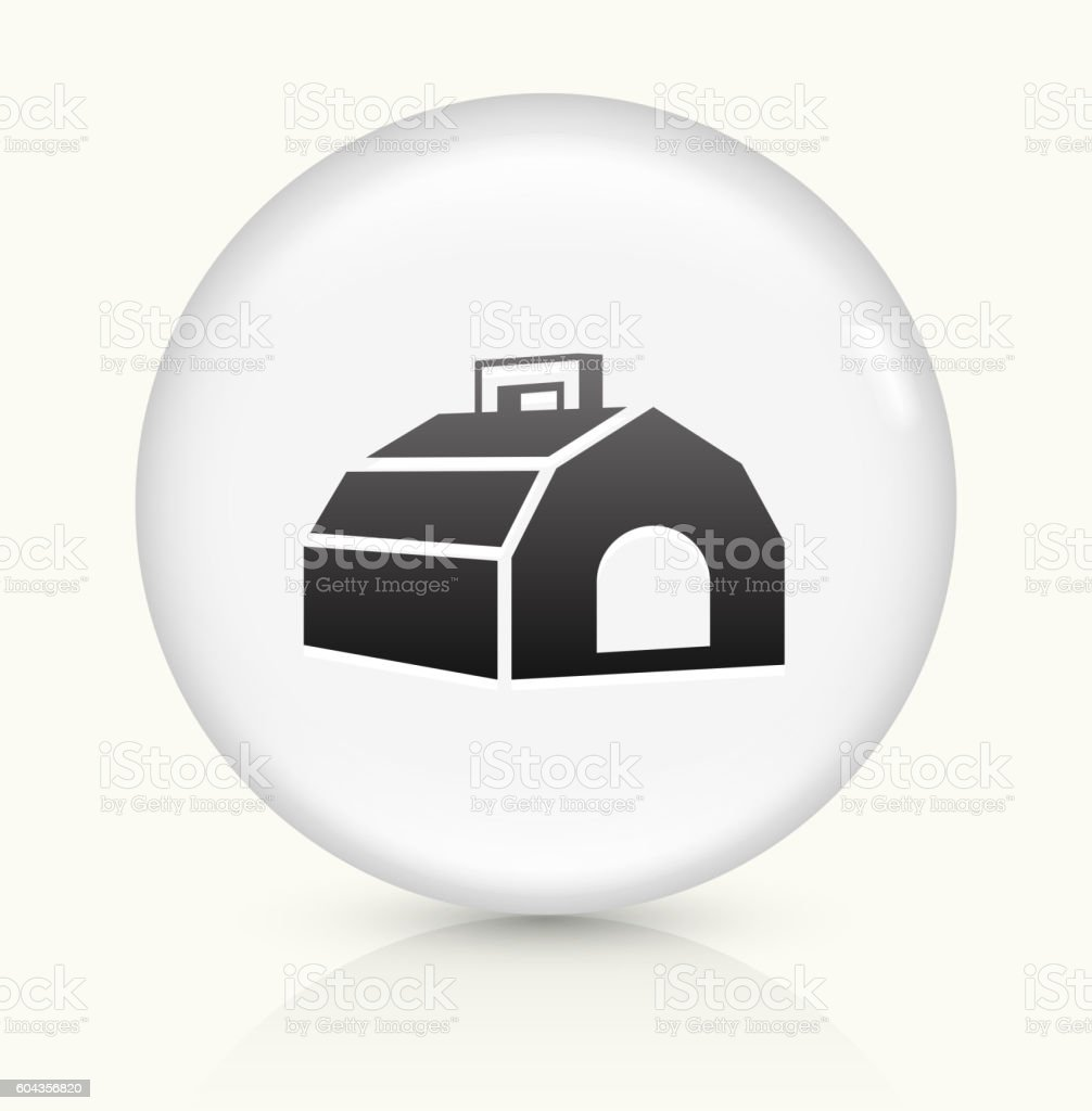 Dog Carrier icon on white round vector button vector art illustration