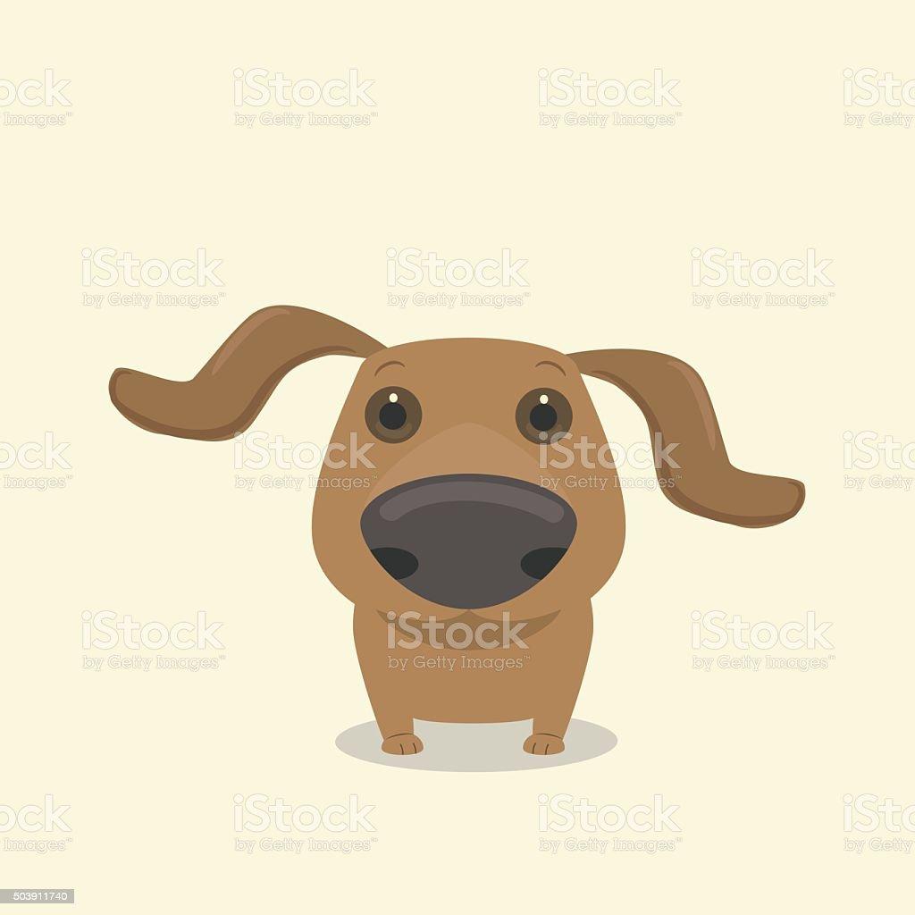 Dog dachshund's nose vector art illustration