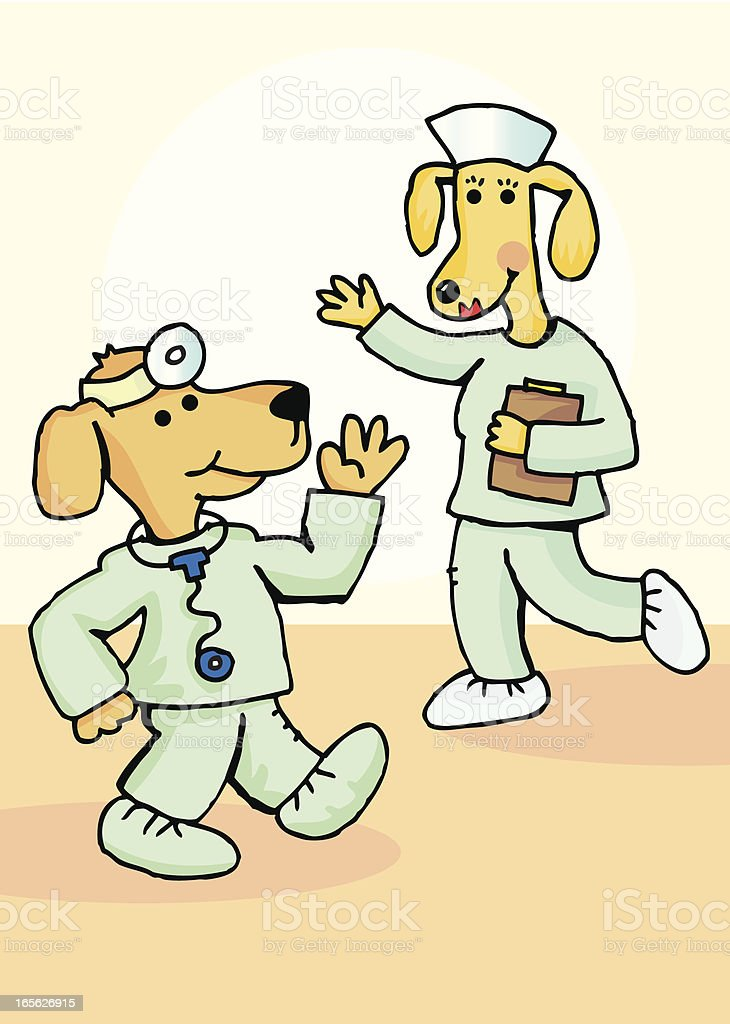 Dog doctors royalty-free stock vector art