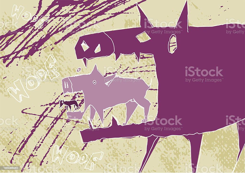 Dog eat doggie royalty-free stock vector art
