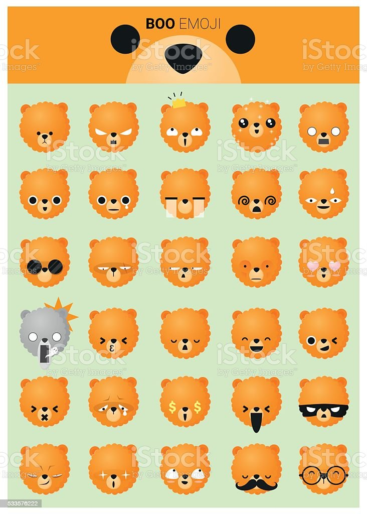 Dog emoji icons vector art illustration