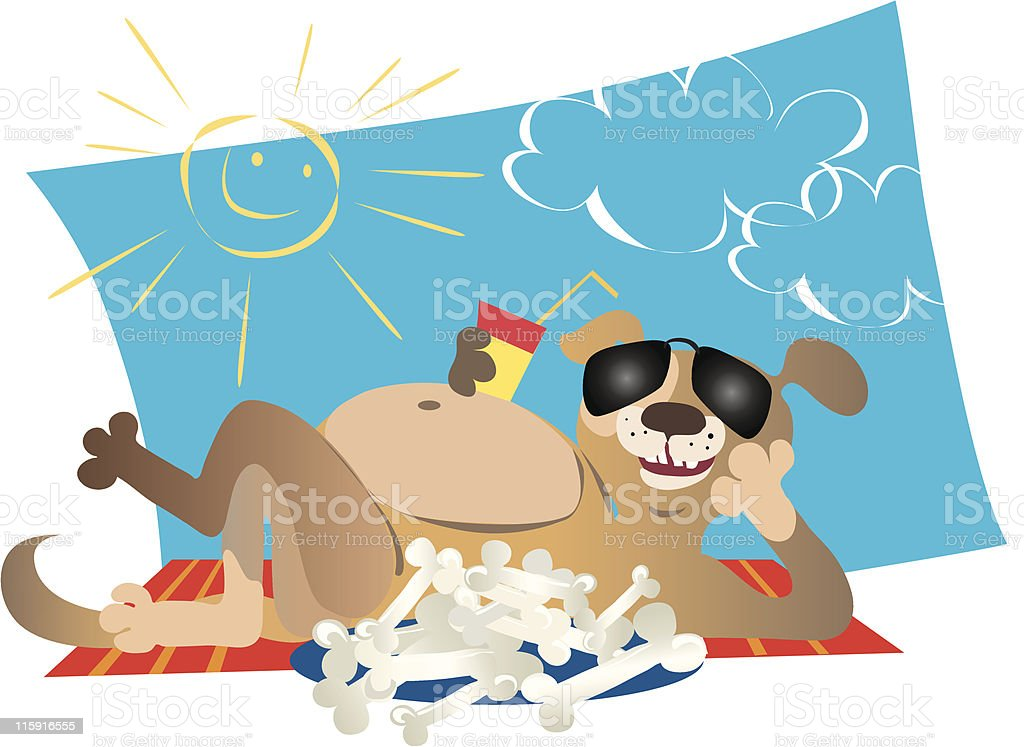 Dog enjoys life royalty-free stock vector art