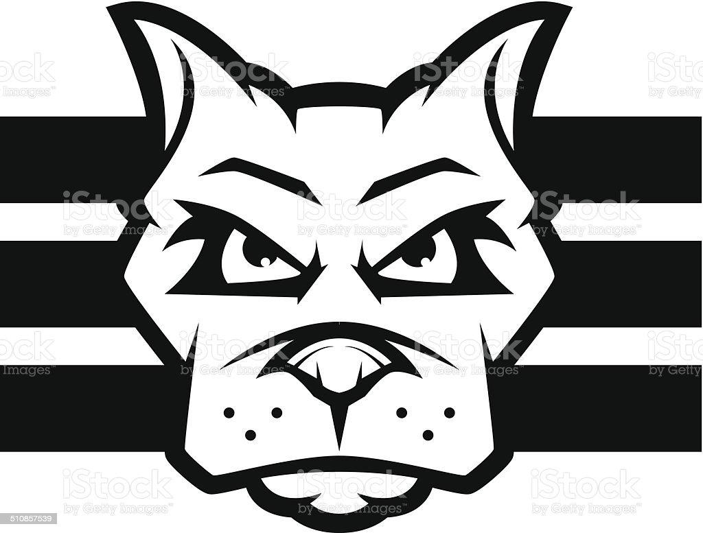 Dog Face vector art illustration