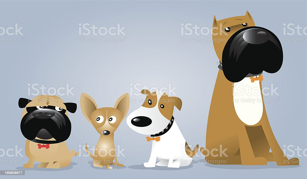 Dog Gang royalty-free stock vector art