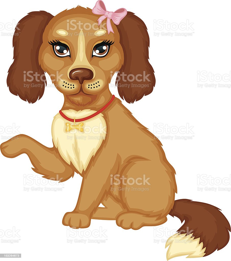 Dog gives paw royalty-free stock vector art