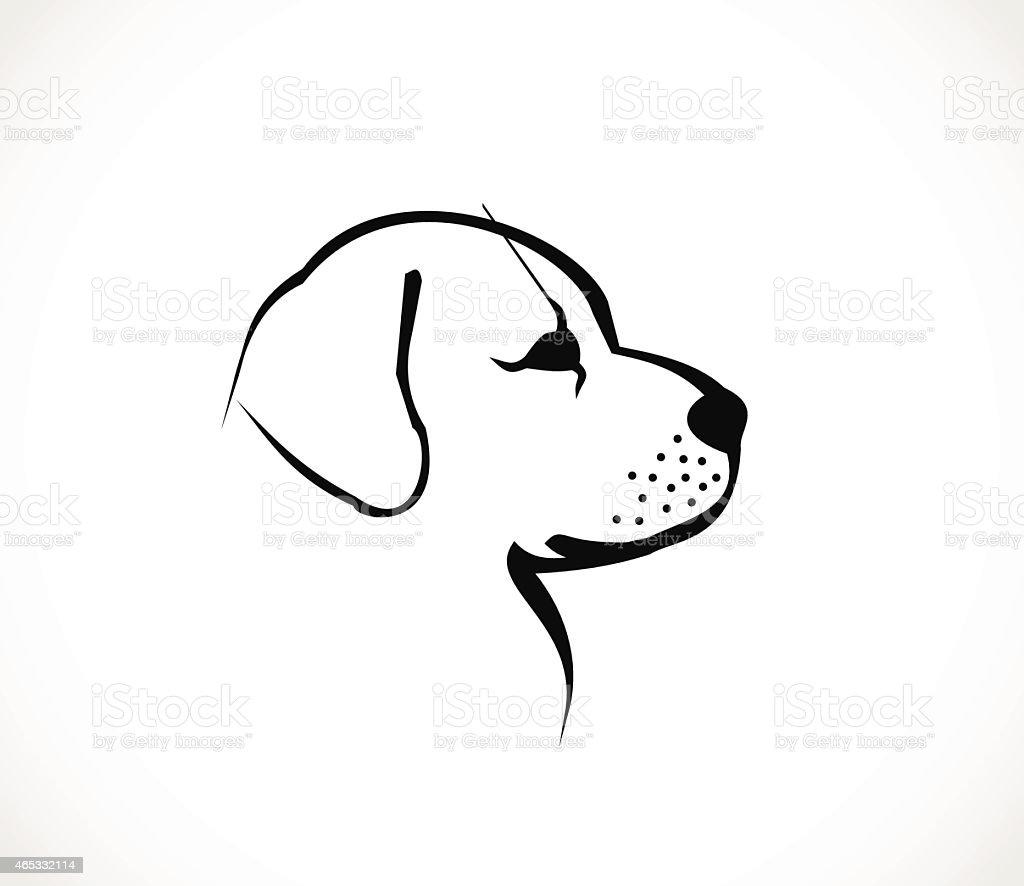 Dog head profile icon vector vector art illustration