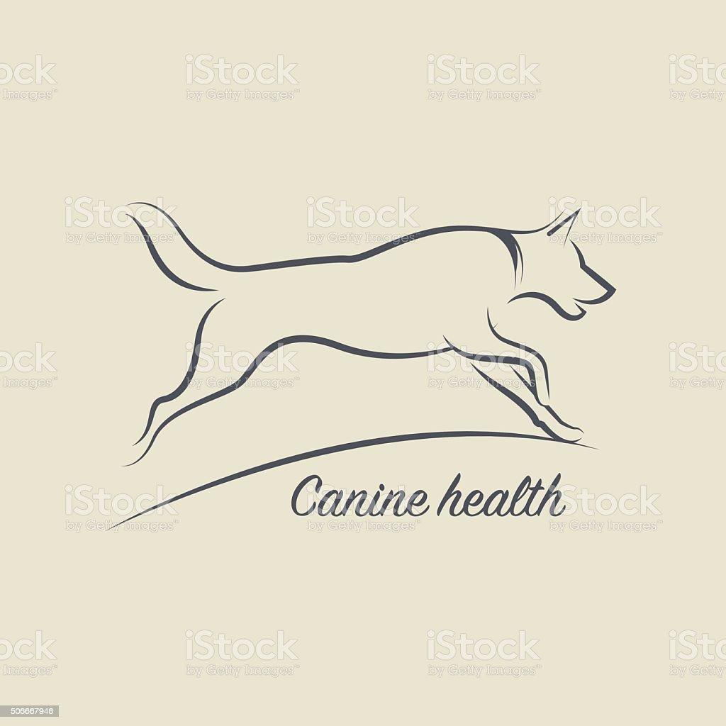 Dog health symbol vector art illustration