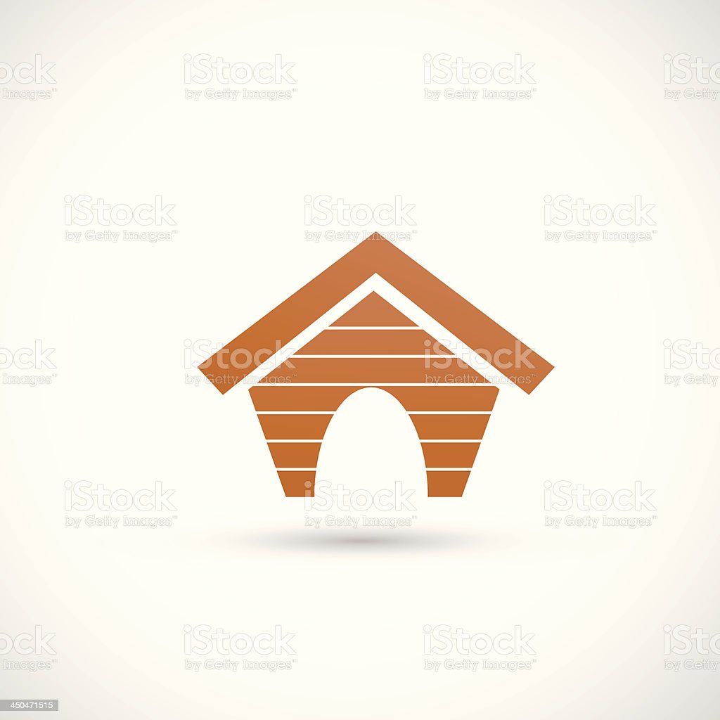 dog house icon royalty-free stock vector art
