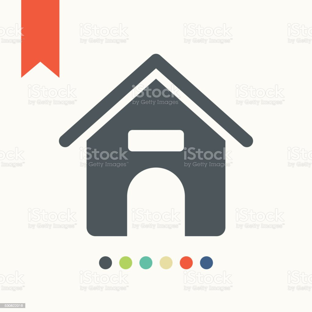 Dog house icon vector art illustration