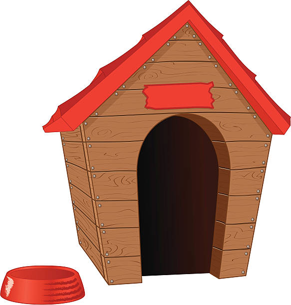 clipart of dog houses - photo #47