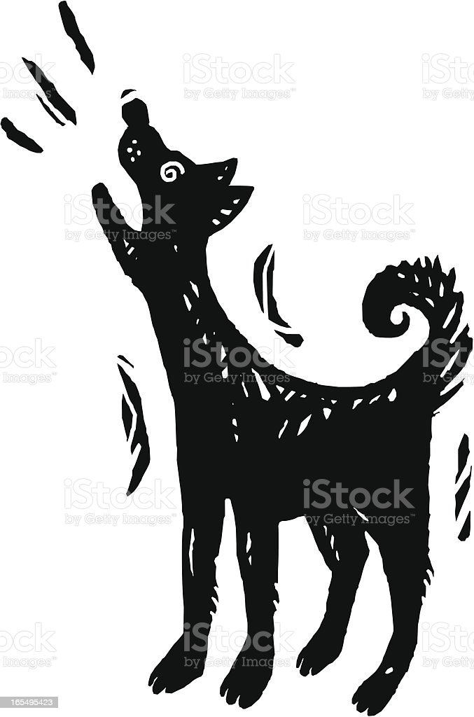 Dog Howling royalty-free stock vector art