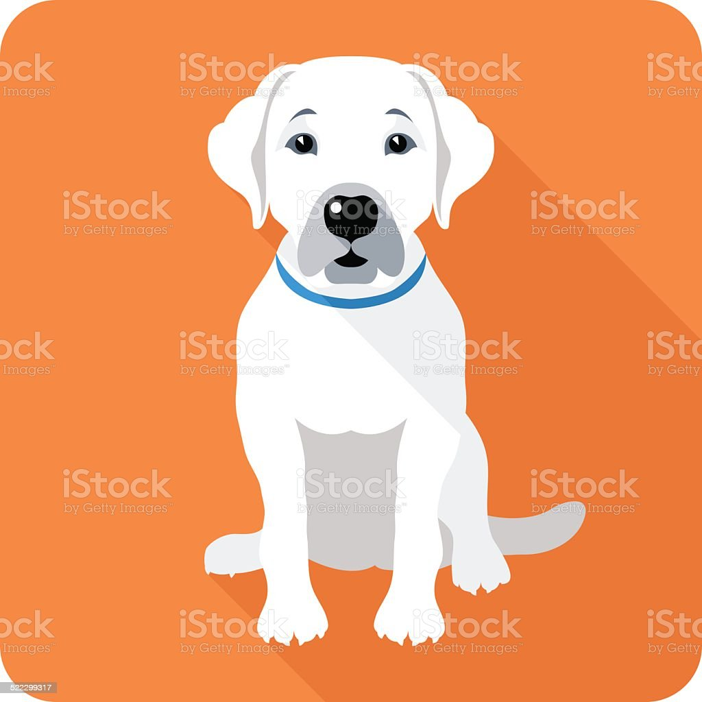 dog icon flat design vector art illustration