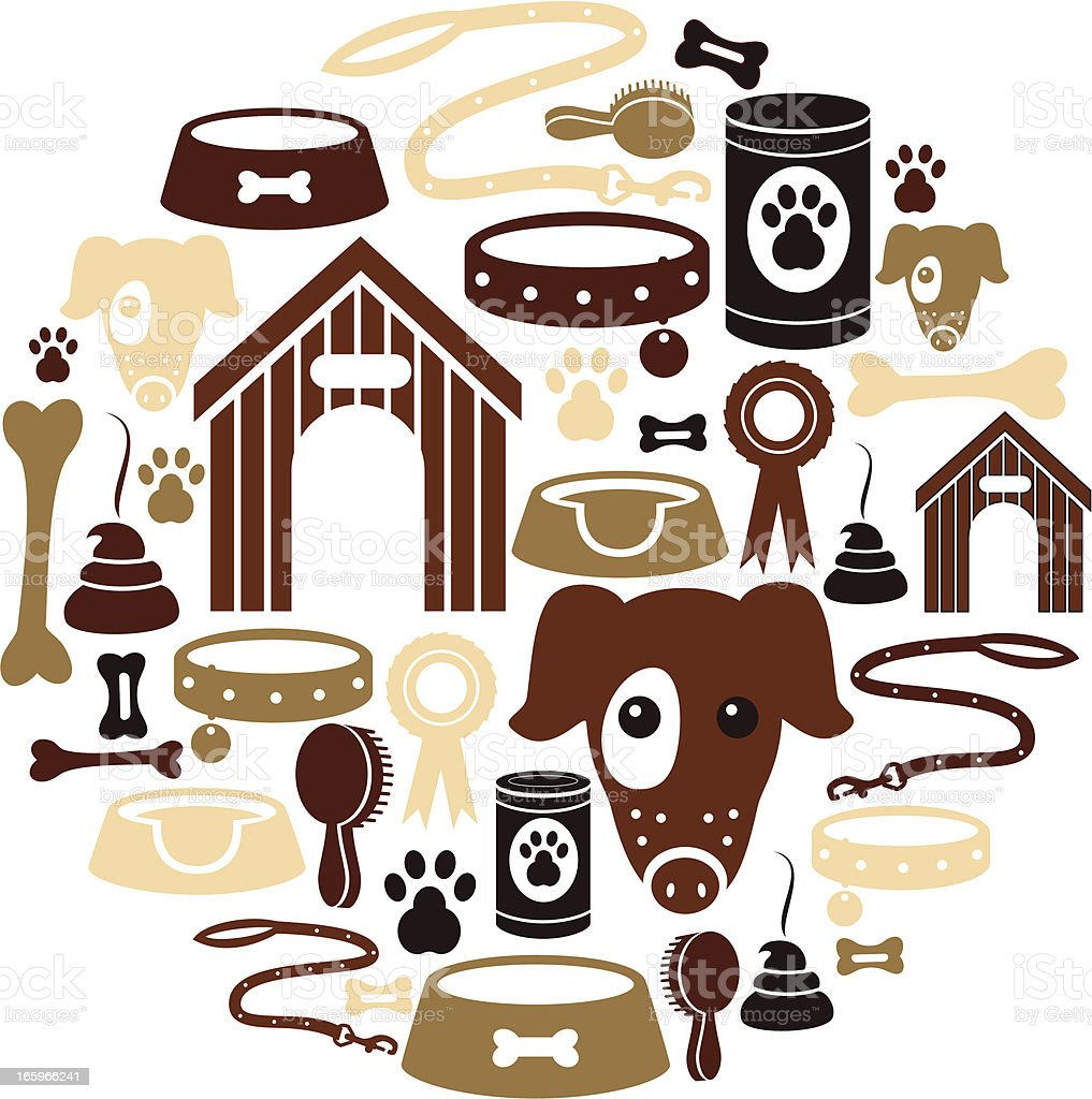 Dog Icon Set royalty-free stock vector art