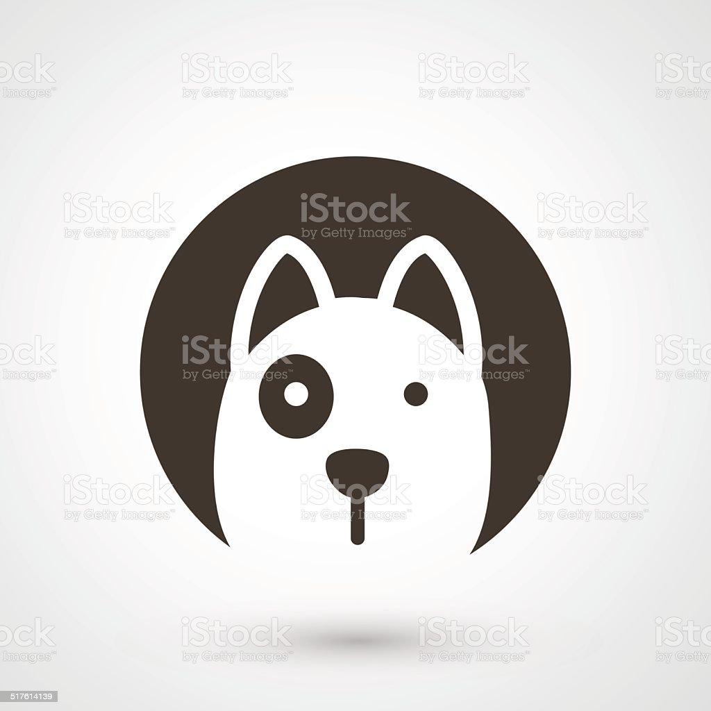 dog icon vector vector art illustration