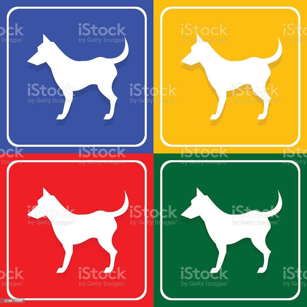 Dog Icons Vector EPS10, Great for any use. vector art illustration
