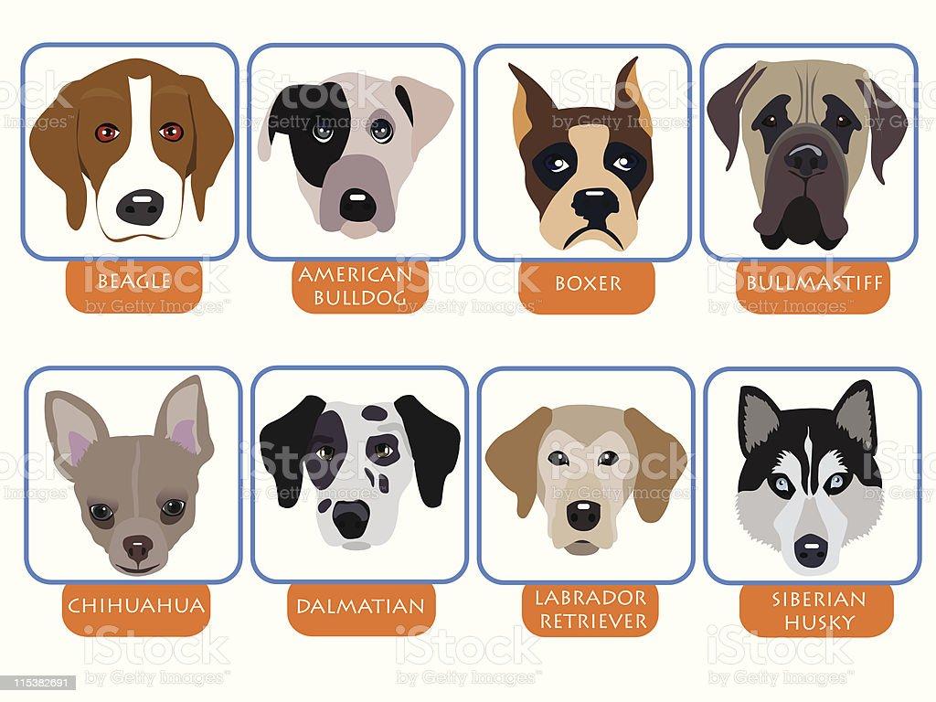 dog icons royalty-free stock vector art